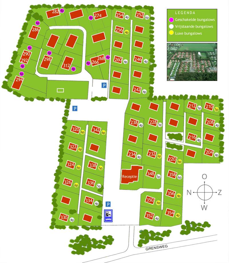 Plattegrond Bungalowpark Gortersmient